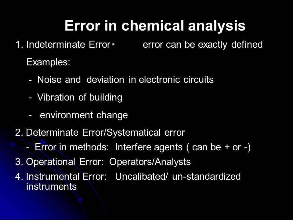 Every steps in analysis steps always face error.