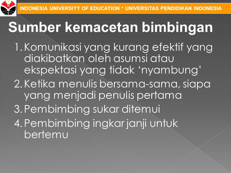 INDONESIA UNIVERSITY OF EDUCATION * UNIVERSITAS PENDIDIKAN INDONESIA 1.Komunikasi yang kurang efektif yang diakibatkan oleh asumsi atau ekspektasi yan