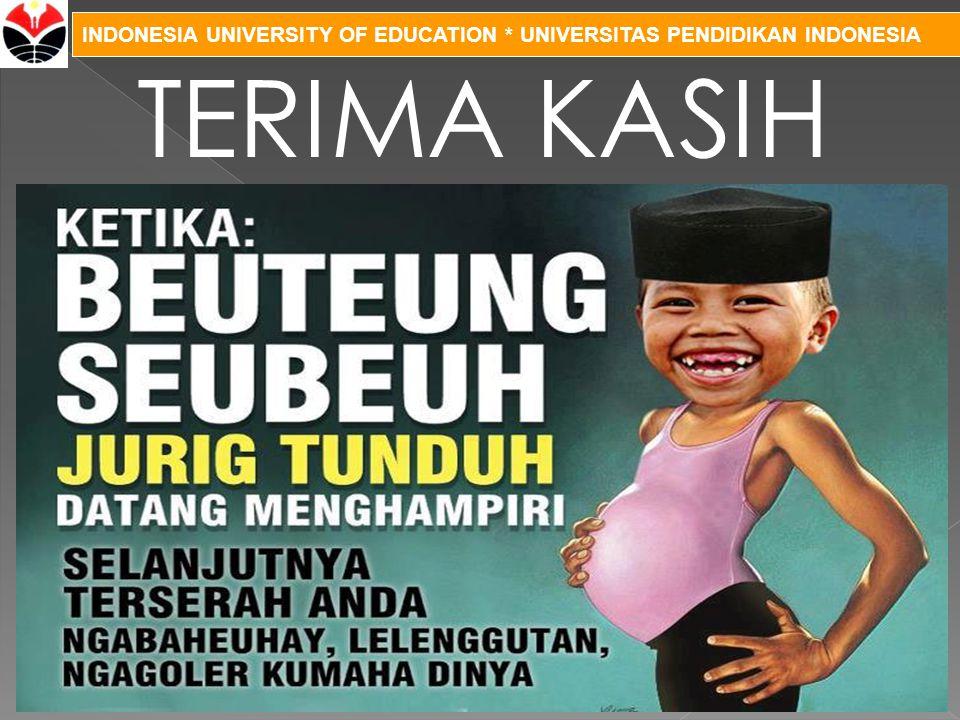 INDONESIA UNIVERSITY OF EDUCATION * UNIVERSITAS PENDIDIKAN INDONESIA TERIMA KASIH