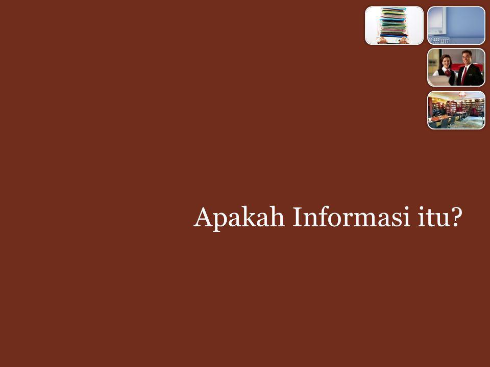 Apakah Informasi itu?