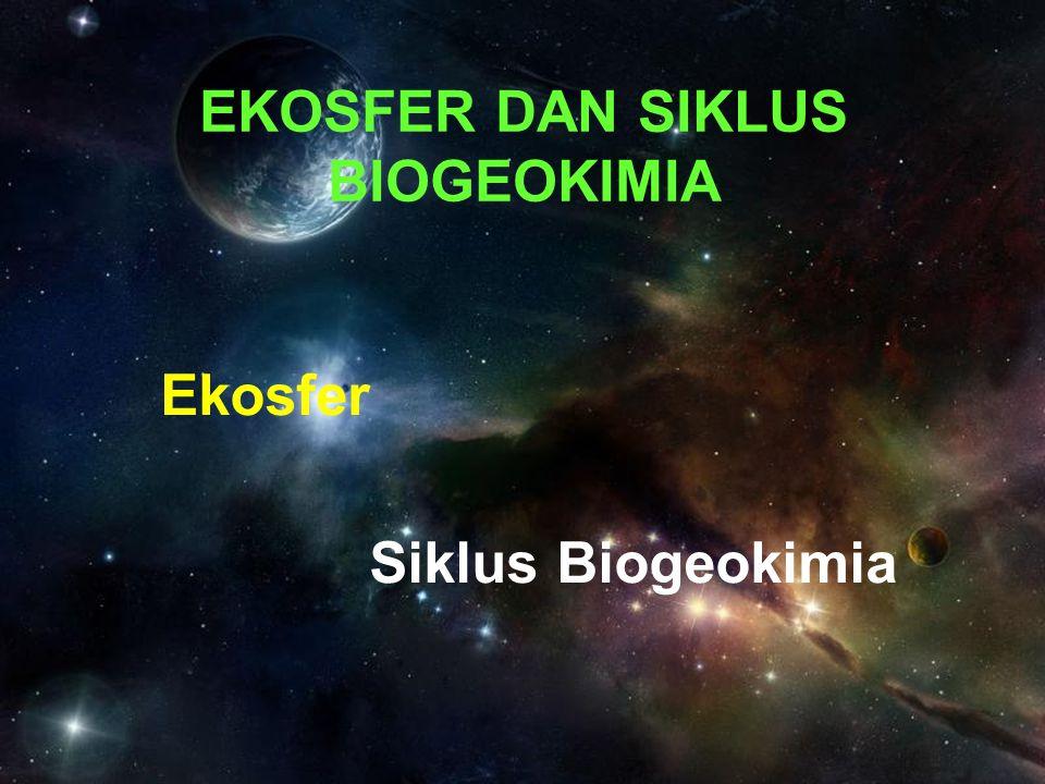 EKOSFER DAN SIKLUS BIOGEOKIMIA Ekosfer Siklus Biogeokimia