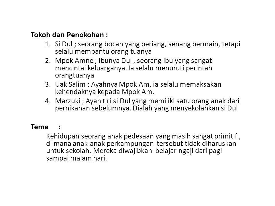 Amanat : Cerita Si Dul Anak Jakarta berkenaan dengan kehidupan yang sangat ngotot karena lebih mementingkan kehidupan akhirat dibanding duniawi.
