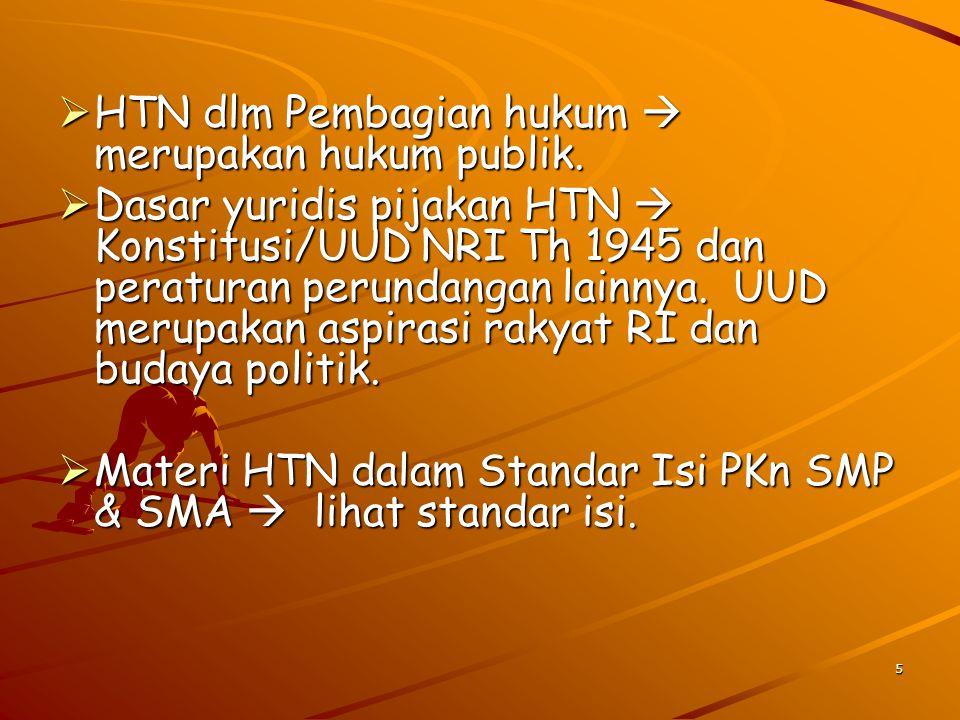 6 PERISTILAHAN INDONESIA  HTN.Istilah lain  HN, diambil dari bhs Belanda Staatsrecht.