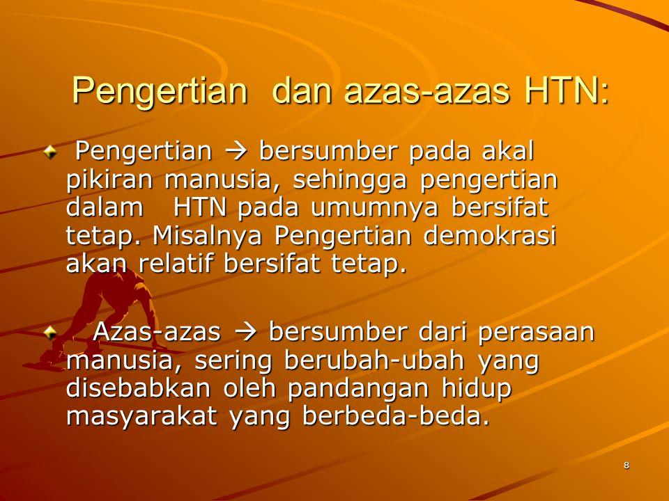 9 Pengertian HTN: C.