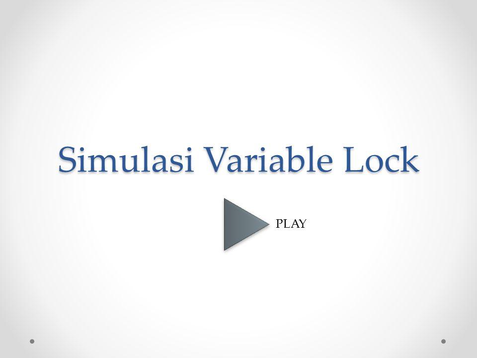 Simulasi Variable Lock PLAY