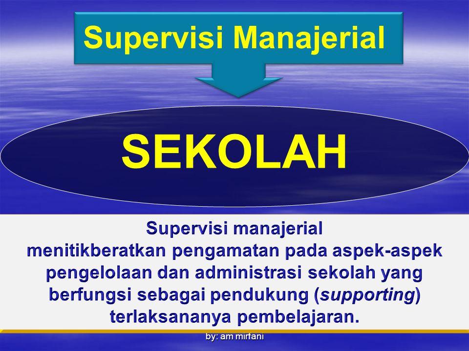 by: am mirfani Supervisi Manajerial SEKOLAH