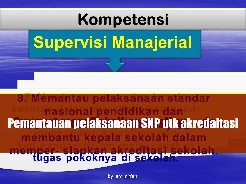 by: am mirfani Supervisi Manajerial Kompetensi 7. Mendorong guru dan kepala sekolah dalam merefleksikan hasil- hasil yang dicapainya untuk menemukan k