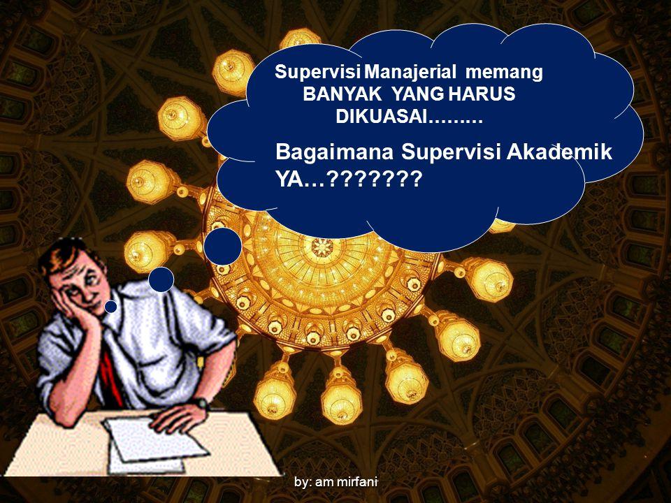 by: am mirfani Supervisi Manajerial memang BANYAK YANG HARUS DIKUASAI……… Bagaimana Supervisi Akademik YA…???????