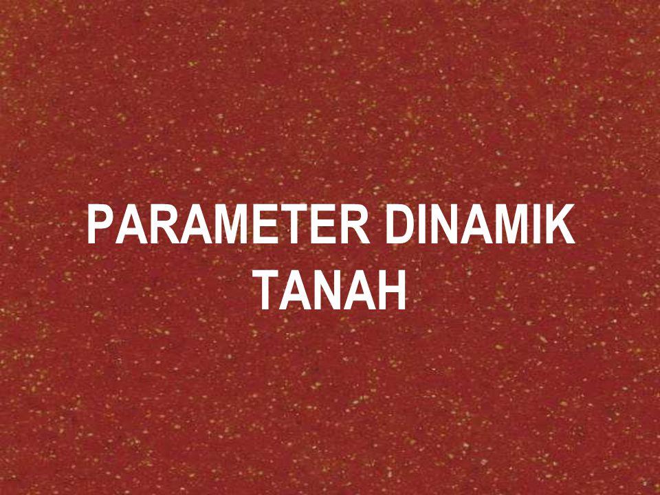 PARAMETER DINAMIK TANAH