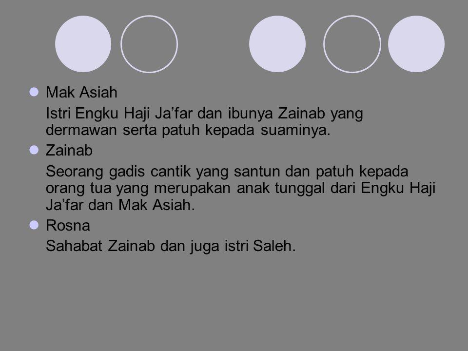 Latar/setting Mekkah Saat Aku , Saleh dan Hamid menunaikan ibadah haji dan juga pada saat kematian Hamid.