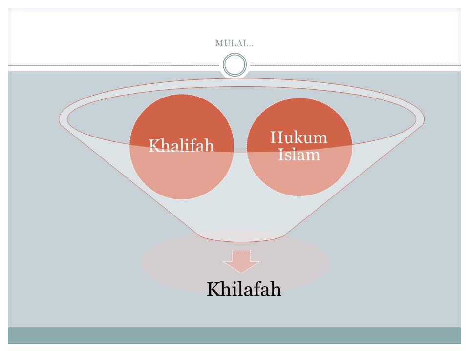 MULAI… Khilafah Khalifah Hukum Islam