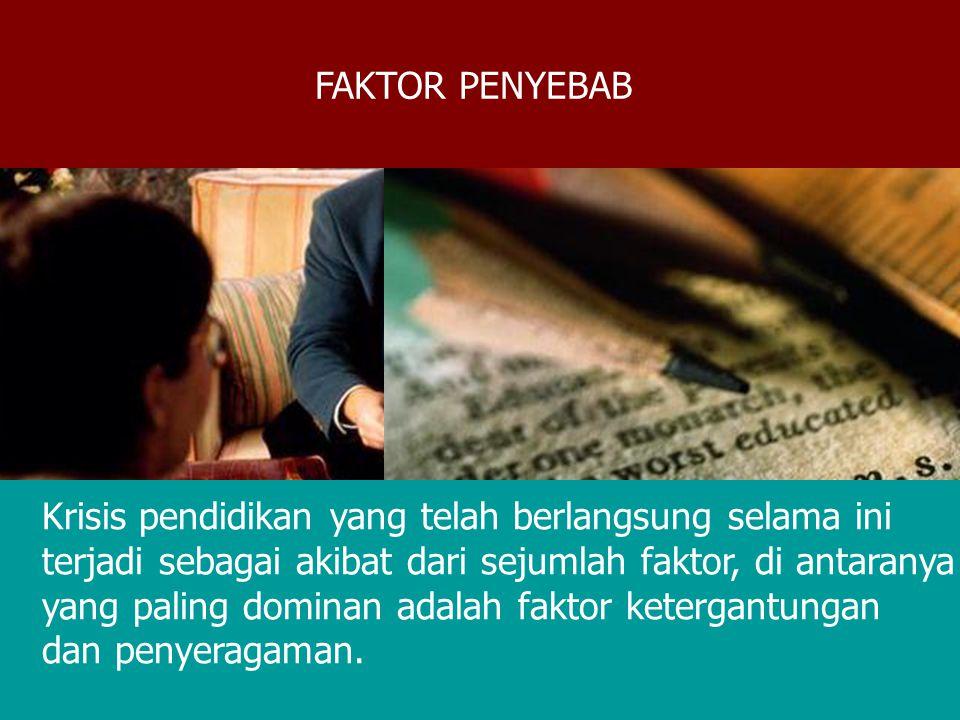 Pilar 1: Pilar 3: Menuju berkembangnya nilai budaya modern KEBIJAKAN STRATEGIS PEMBANGUNAN PENDIDIKAN Menuju kemandian bangsa Pilar 2: Menuju Civil Society Indonesia