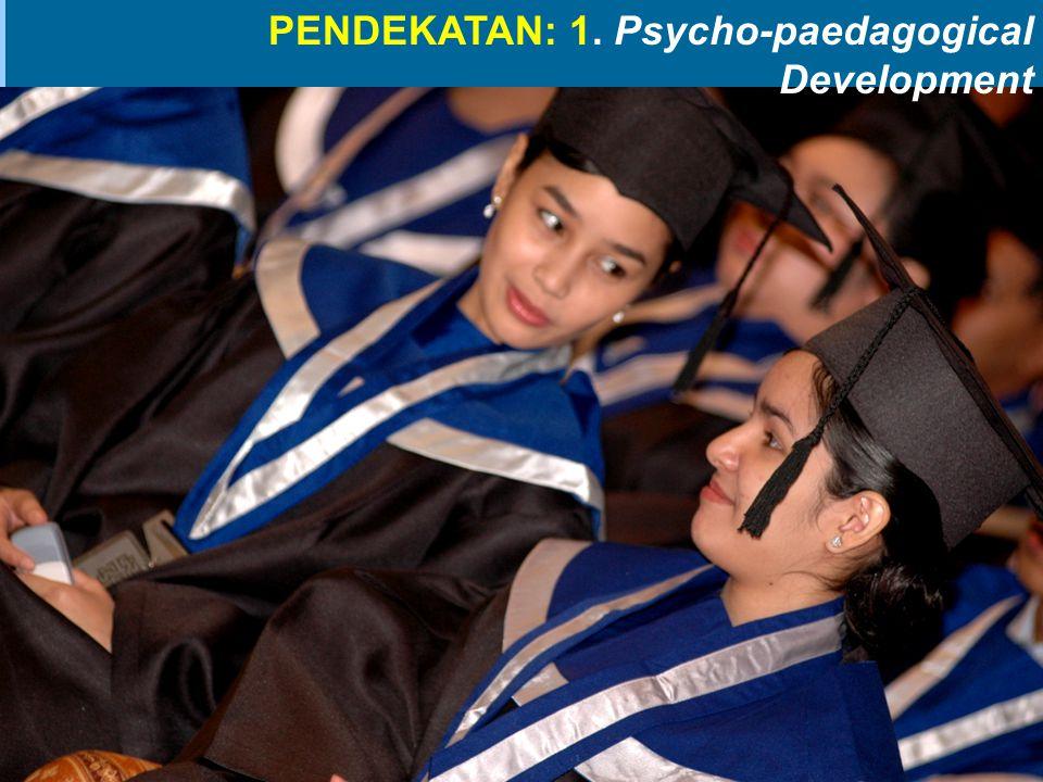 PENDEKATAN: 1. Psycho-paedagogical Development