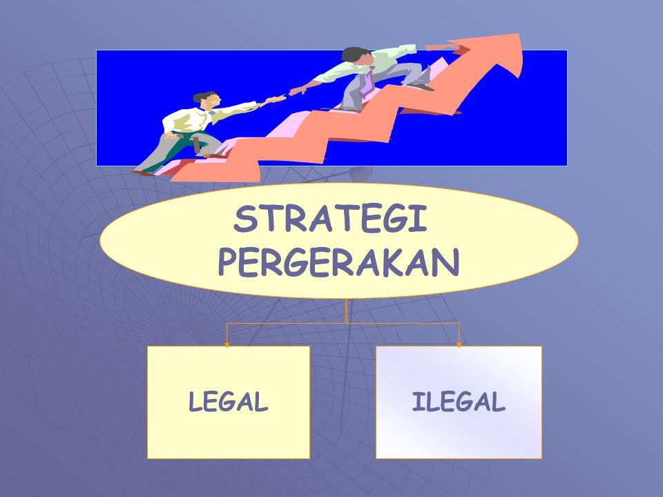 STRATEGI PERGERAKAN LEGALILEGAL