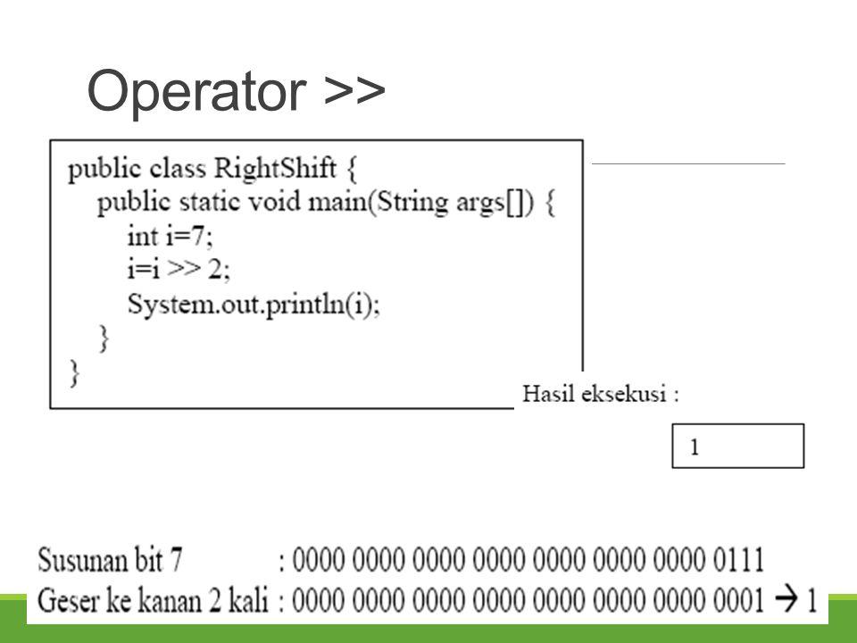 Operator >>