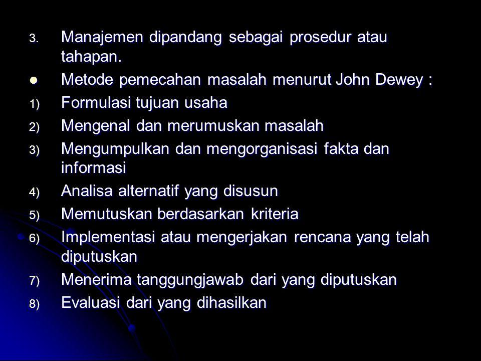 Metode pemecahan masalah menurut John Dewey : Metode pemecahan masalah menurut John Dewey : 1) Formulasi tujuan usaha 2) Mengenal dan merumuskan masal