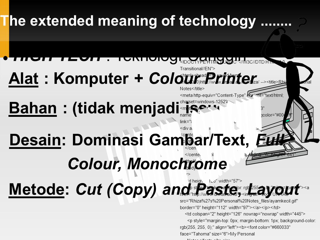 The extended meaning of technology........
