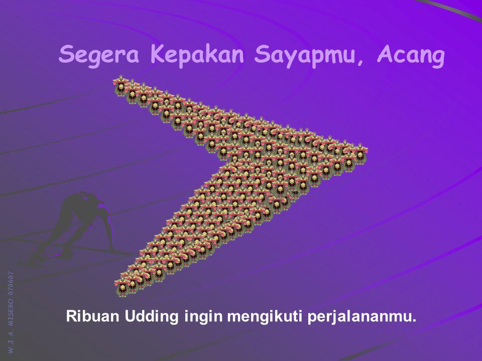 W.J.A. MISERO 070607 Segera Kepakan Sayapmu, Acang Ribuan Udding ingin mengikuti perjalananmu.