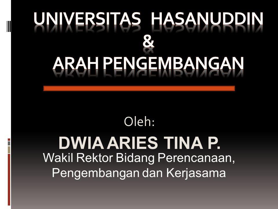Oleh: DWIA ARIES TINA P. Wakil Rektor Bidang Perencanaan, Pengembangan dan Kerjasama