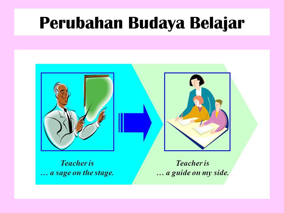 Perubahan Budaya Belajar BUKAN LAGI BAGAIMANA DOSEN MENGAJAR DENGAN BAIK (TEACHER CENTER), TAPI…….