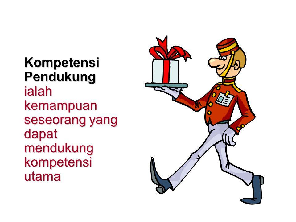 Kompetensi Utama ialah kemampuan seseorang untuk menampilkan kinerja yang memadai pada suatu kondisi pekerjaan yang memuaskan