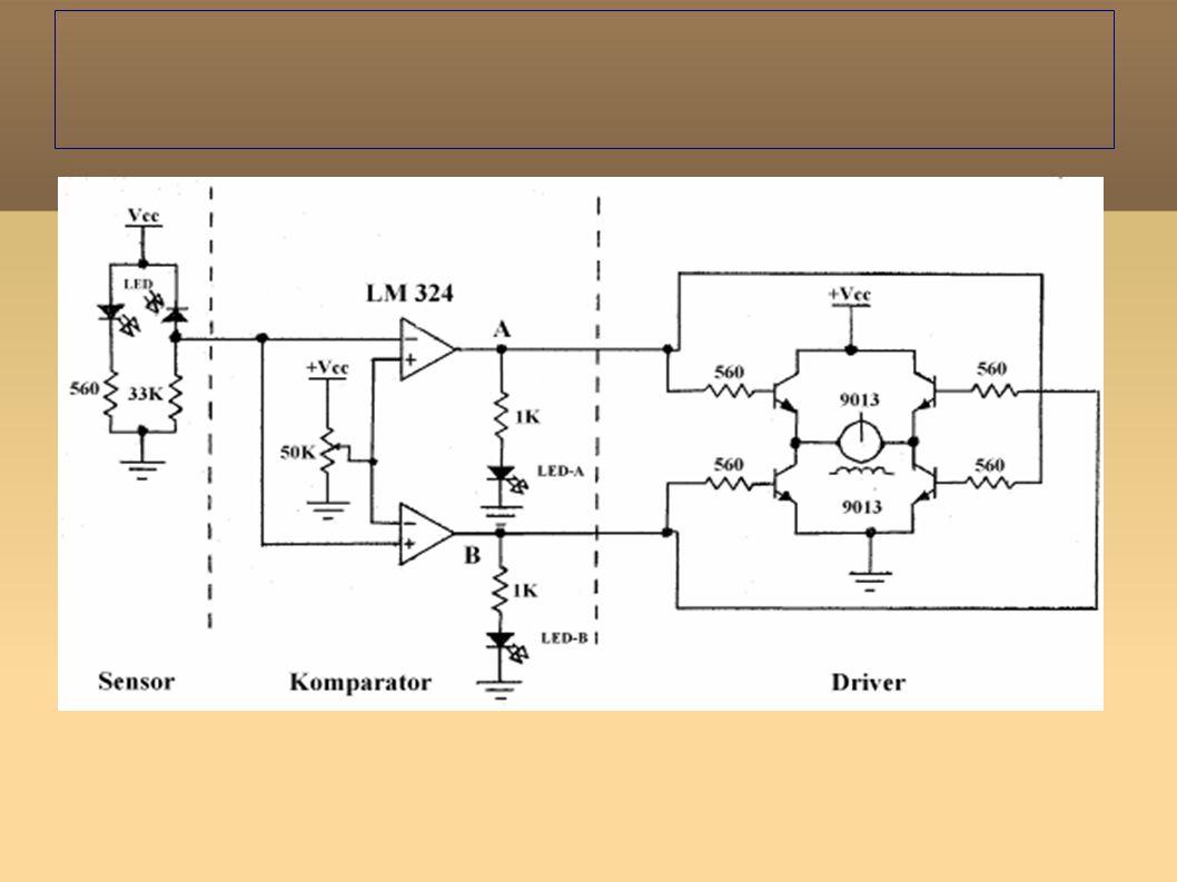 Prinsip Kerja Line Tracking 1.Prinsip Kerja Sensor Sensor yang digunakan terdiri dari photo dioda.