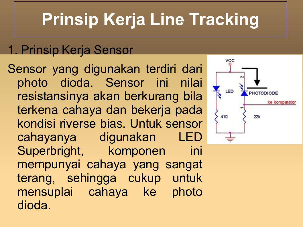 Jika photo dioda tidak terkena cahaya, maka nilai resistansinya akan besar atau dapat kita asumsikan tak hingga.