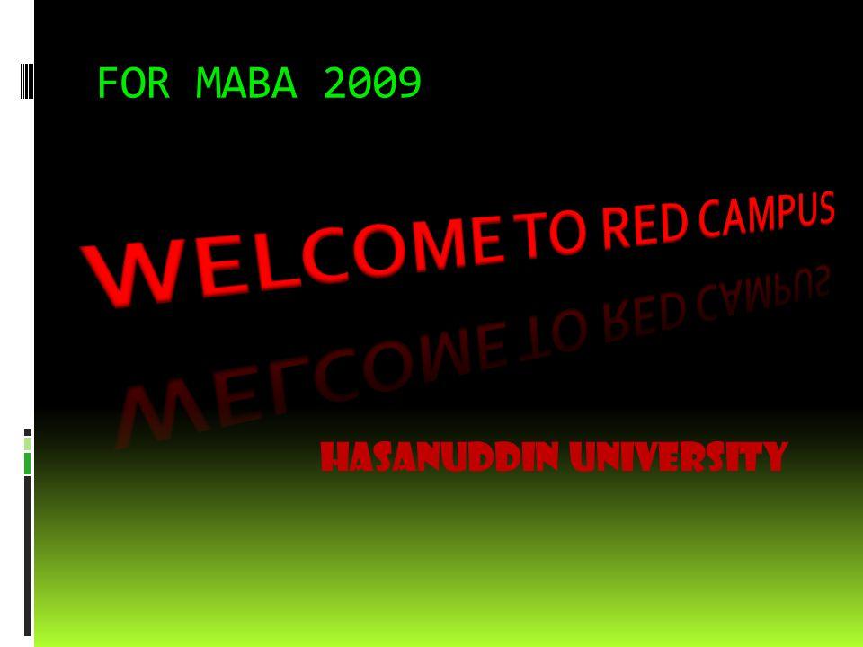 FOR MABA 2009 HASANUDDIN UNIVERSITY