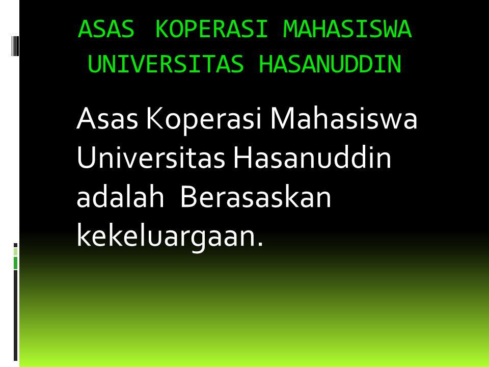SEJARAH SINGKAT KOPERASI MAHASISWA UNIVERSITAS HASANUDDIN  Koperasi Mahasiswa Universitas Hasanuddin (KOPMA UNHAS) didirikan pada tanggal 8 Agustus 1981 dan mendapat pengesahan dari KAKANWIL Koperasi Sul-sel pada tanggal 16 September 1981 dengan Badan Hukum No.