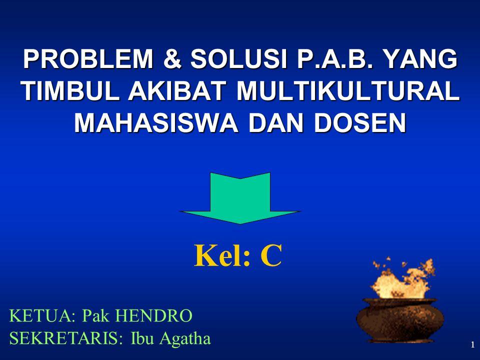 1 PROBLEM & SOLUSI P.A.B.