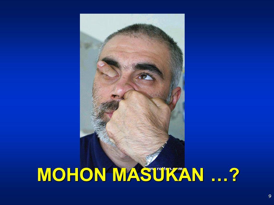 9 MOHON MASUKAN …