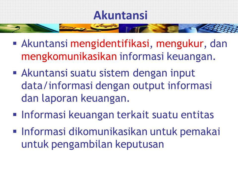 Akuntansi mengidentifikasi, mengukur, dan mengkomunikasikan informasi keuangan.