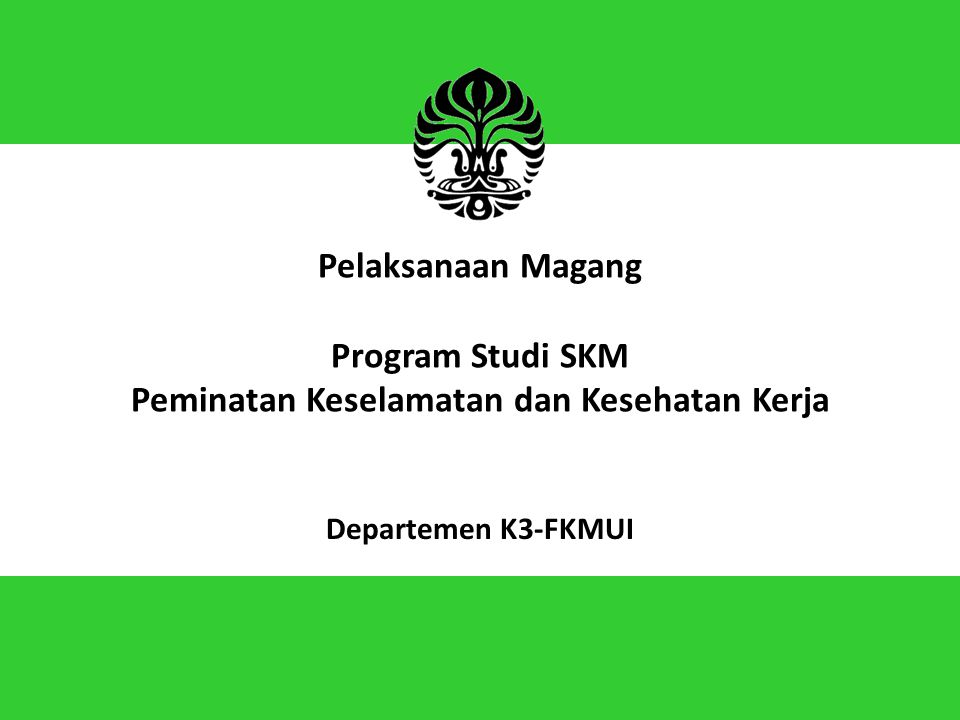 Pelaksanaan Magang Program Studi SKM Peminatan Keselamatan dan Kesehatan Kerja Departemen K3-FKMUI