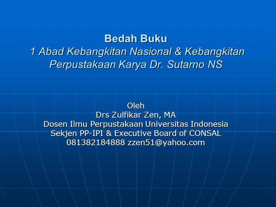 Diselenggarakan oleh Badan Perpustakaan dan Arsip Daerah Provinsi DKI Jakarta, Jakarta, 29 April 2009