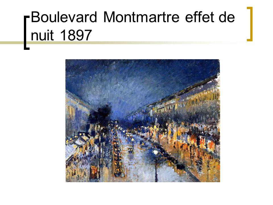 Boulevard Montmartre effet de nuit 1897