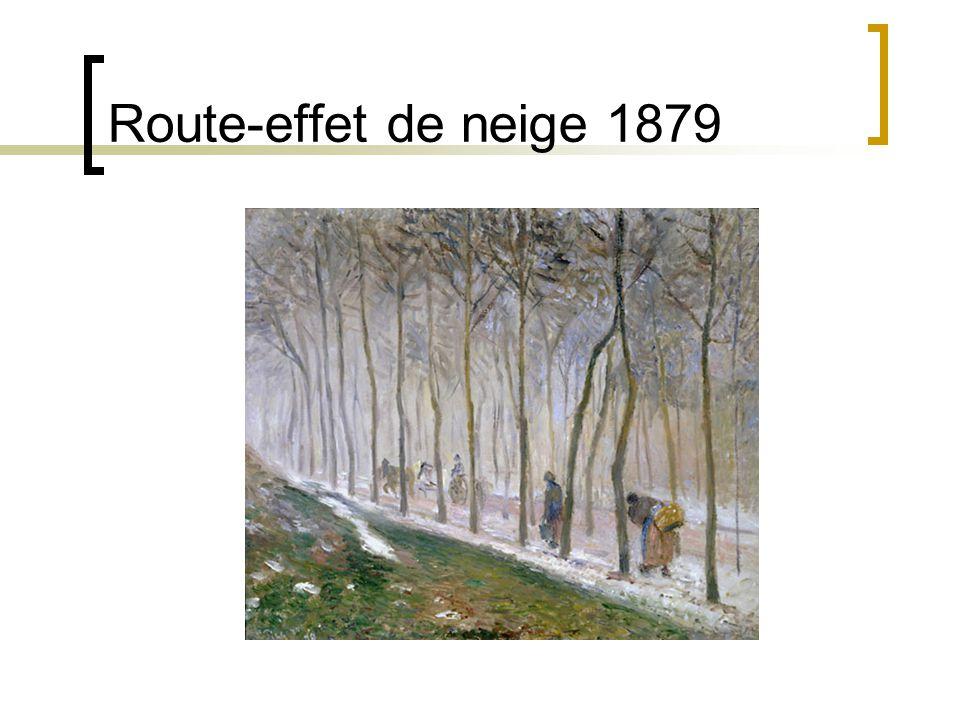 Route-effet de neige 1879
