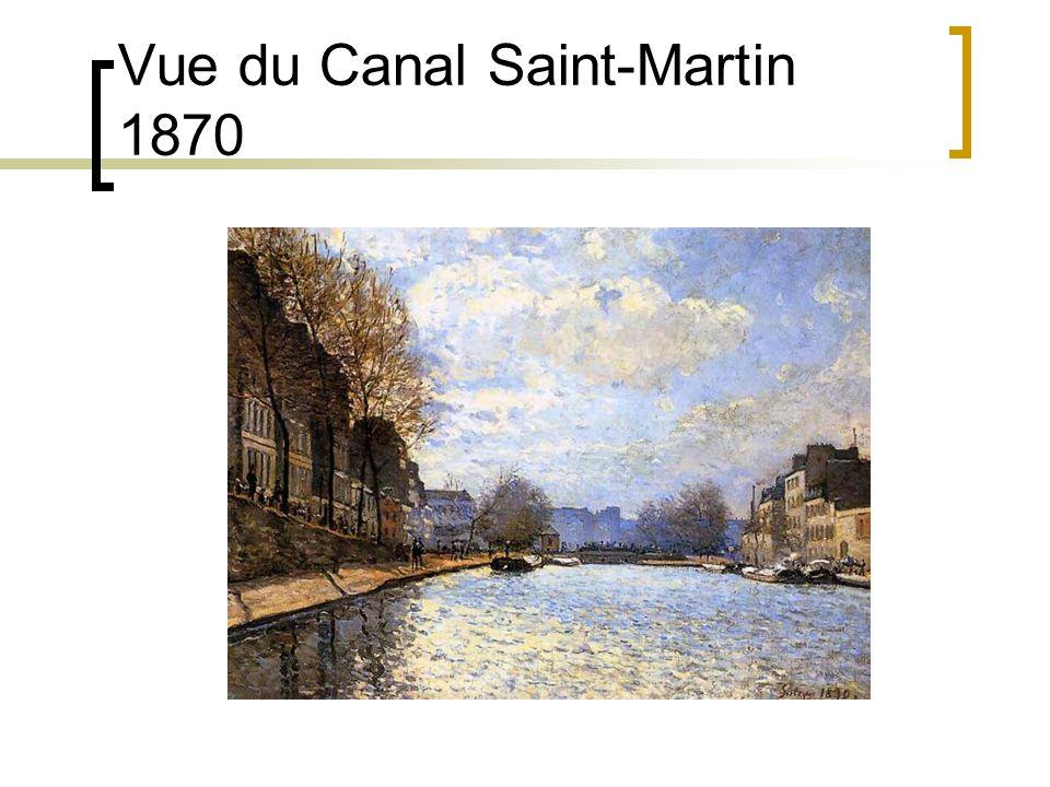 Vue du Canal Saint-Martin 1870