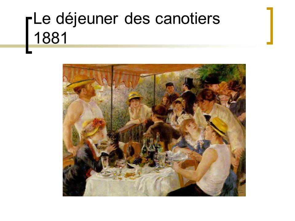 Le déjeuner des canotiers 1881