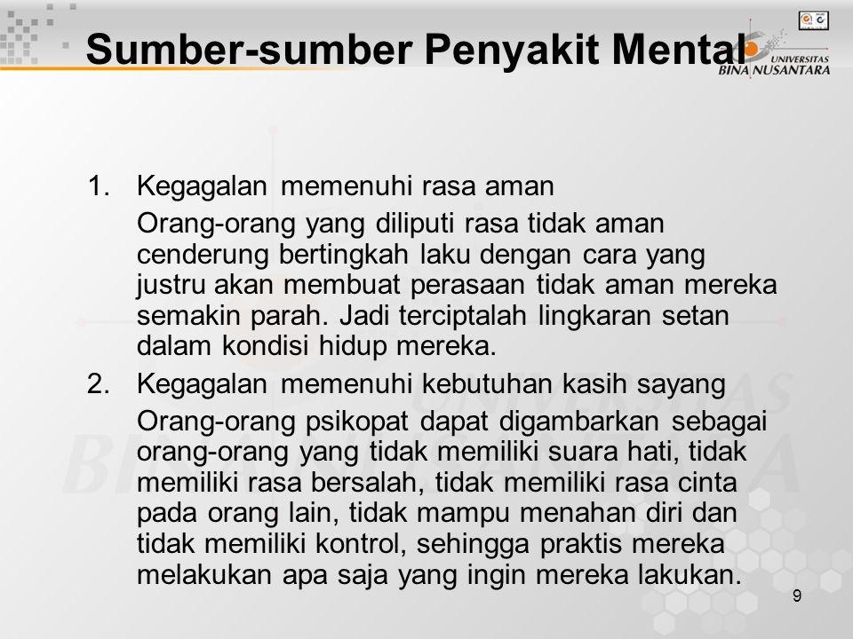 10 Sumber-sumber Penyakit Mental 3.Rasa bersalah A.