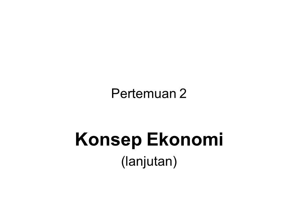 Pertemuan 2 Konsep Ekonomi (lanjutan)