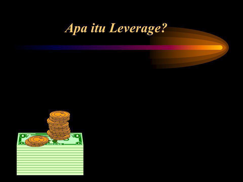 Degree of Combined Leverage (DCL) Kombinasi Leverage: penggunaan operating leverage dan financial leverage, perubahan kecil pada penjualan akan berakibat besar pada perubahan Laba per Saham (EPS) Multiplier effect disebut degree of combined leverage.
