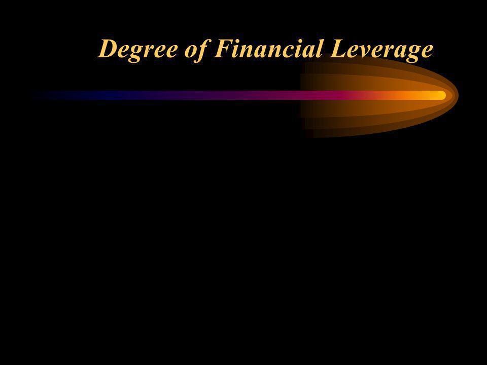 DFL = % perubahan EPS % perubahan EBIT perubahan EPS EPS perubahan EBIT EBIT Degree of Financial Leverage =