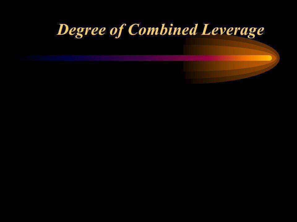 Degree of Combined Leverage (DCL) Kombinasi Leverage: penggunaan operating leverage dan financial leverage, perubahan kecil pada penjualan akan beraki