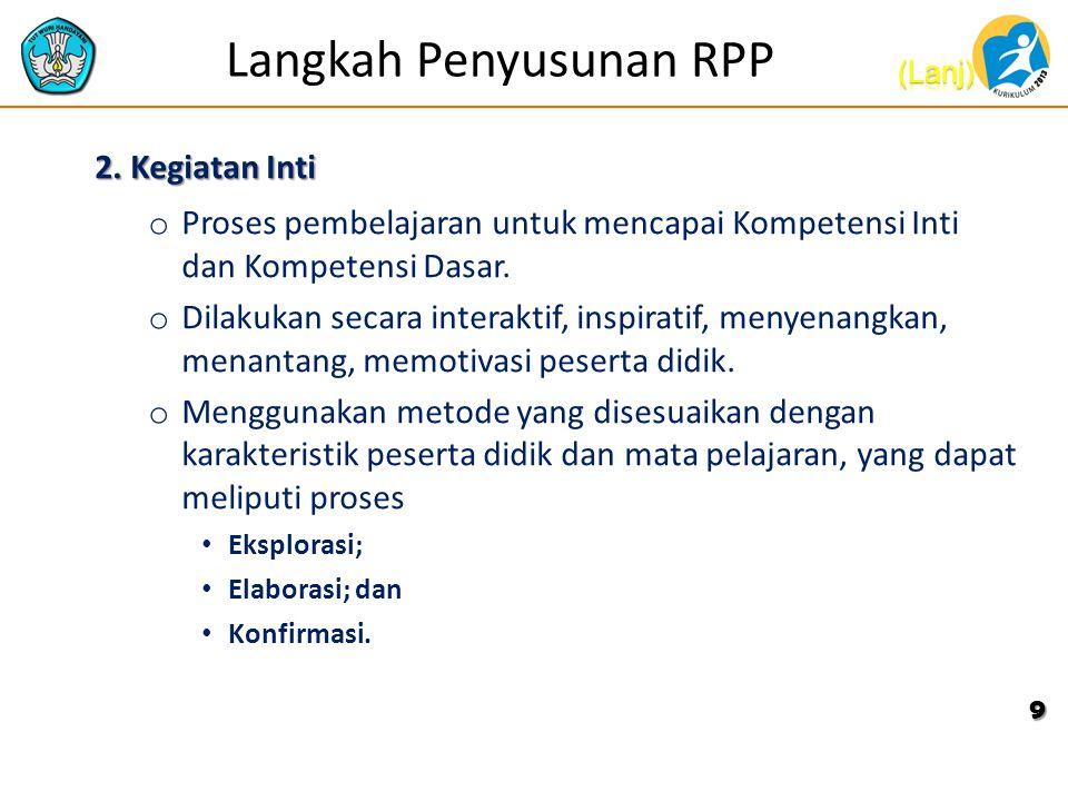 Langkah Penyusunan RPP 2.