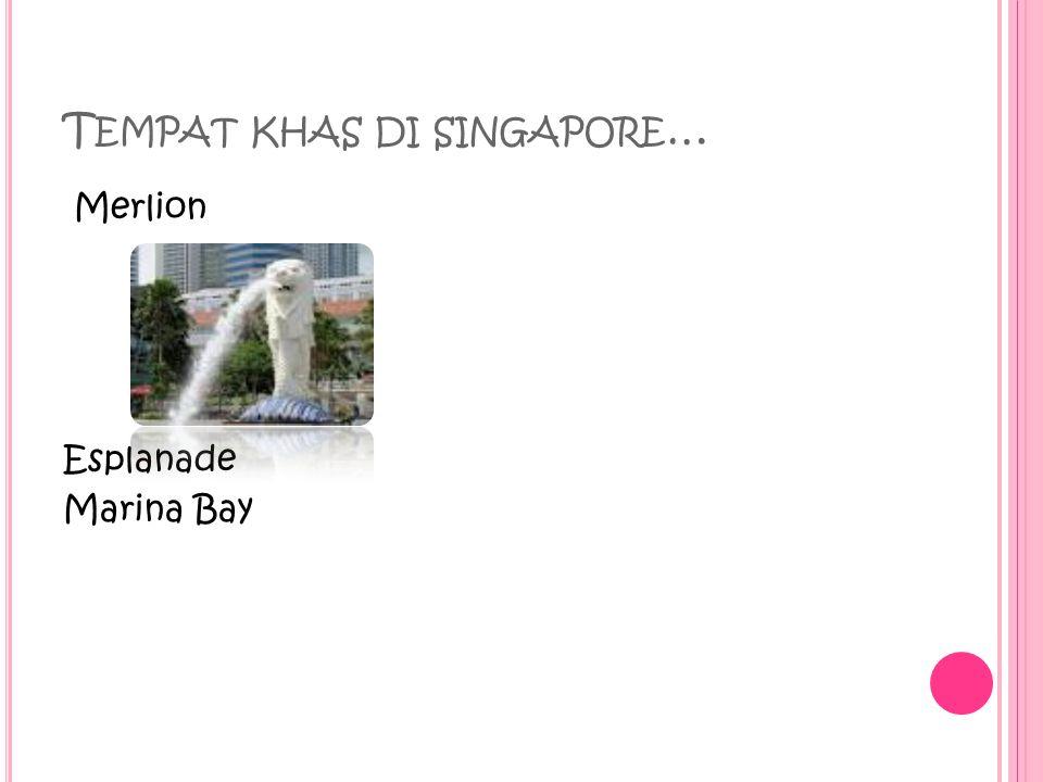 T EMPAT KHAS DI SINGAPORE … Merlion Esplanade Marina Bay