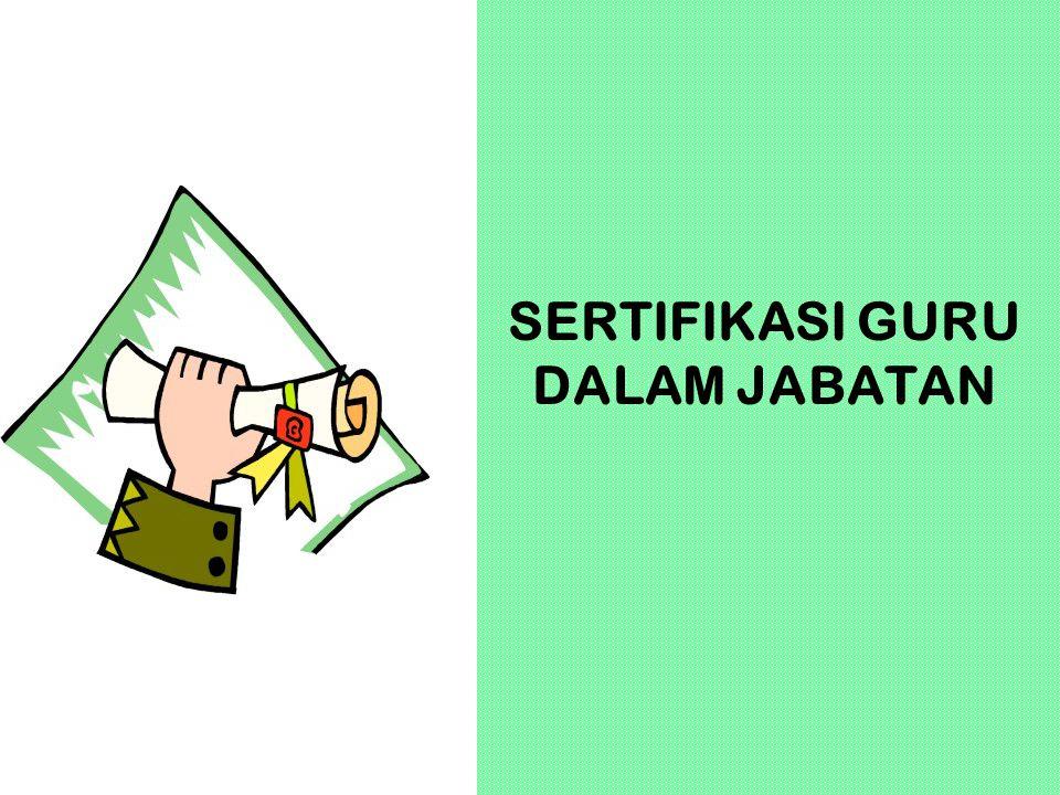 SERTIFIKASI GURU DALAM JABATAN 12 KOMPONEN PORTOFOLIO (SESUAI PERMENDIKNAS NO.