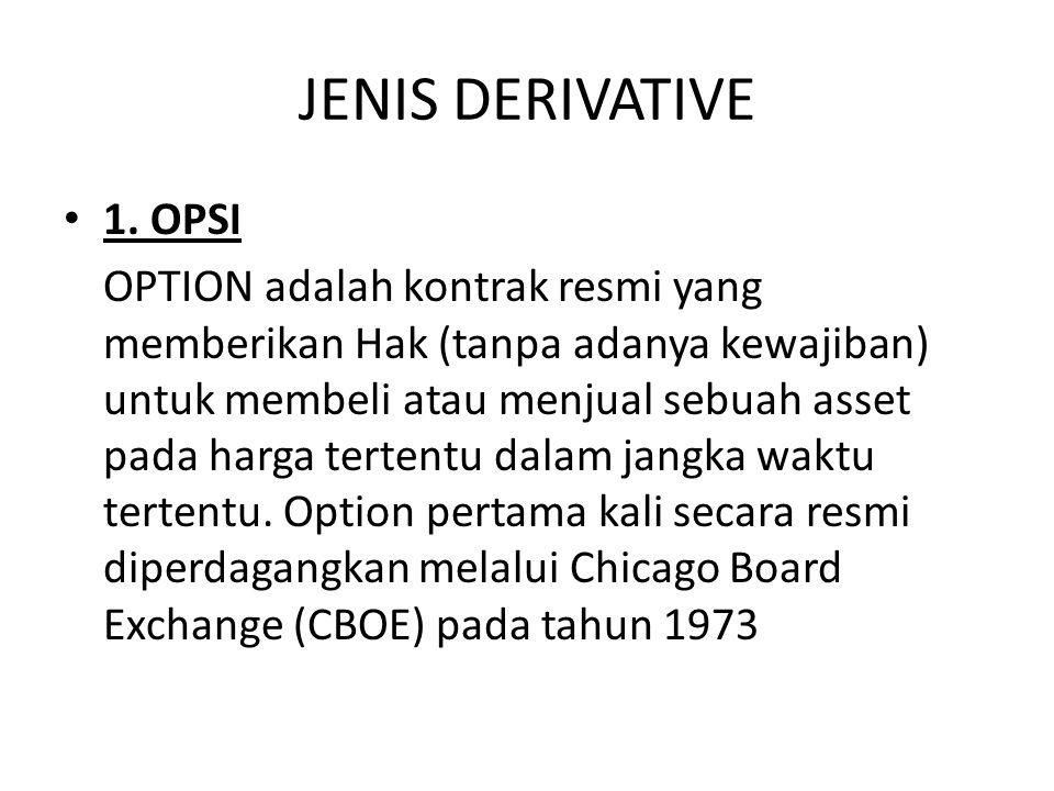 JENIS DERIVATIVE 1.