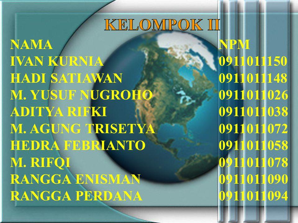 NAMANPM IVAN KURNIA0911011150 HADI SATIAWAN0911011148 M.