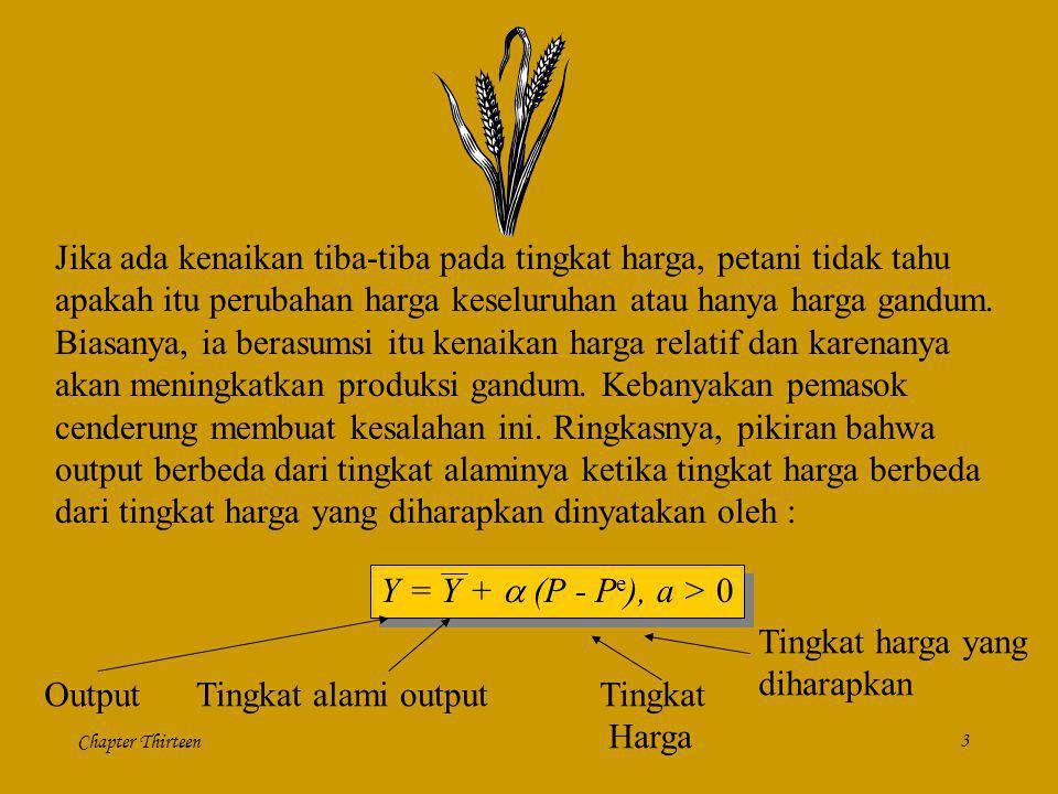 Chapter Thirteen3 Jika ada kenaikan tiba-tiba pada tingkat harga, petani tidak tahu apakah itu perubahan harga keseluruhan atau hanya harga gandum. Bi
