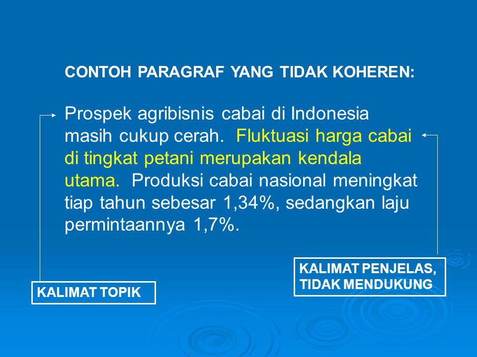 Prospek agribisnis cabai di Indonesia masih cukup cerah.